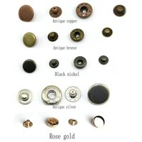 bag snaps - 100set Pack Metal Press Studs Sewing Button Snap Fasteners Sewing Leather Craft Clothes Bags