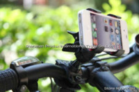 abs cradle - HOT ABS Bicycle Motorcycle Dual Clip Bike Holder Stand Mount Cradle for Mobile Phone MP4 GPS Navi Black NEW Arrival