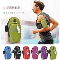 apple iphone articles - whole sports mobile phone arm bag unisex running gear arm wrist bag outdoor article iphone6plus arm belt bag armband universal running case