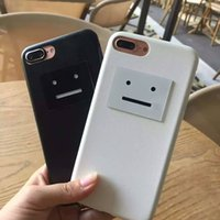apples acne - Acne Smile Face iPhone Case For iPhone7 Plus Plastic Fur Light Phone Case Two Colors Degrees Protection