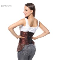 armor corset - Charmian Steampunk Steel Boned Black Jacquard Hipster Underbust Corset Chain Skull Decoration Gothic Armor Corsets and Bustier