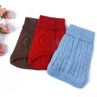 Wholesale Small Pet Dog Puppy Cat Winter Warm Cozy Sweater Knitwear Puppy Knit Coat Clothes