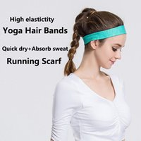 Wholesale Fashion Sportswear Ani sweat Yoga Hair Bands Quick Dry High elasticity Headbands For Fitness Unisex Comfortable Running Scarf