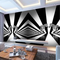 animal sounds zebra - Black and white zebra creative personality living room bedroom wallpaper backdrop animal wallpaper mural custom mold wall covering