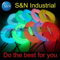 Wholesale El wire yellow M mm neon light flexible wire rope with controller rope hanger