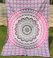 beach design bedding - 14 Designs Indian Mandala Tapestry Polyester Wall Hanging Boho Printed Beach Towel Yoga Mat Table Cloth Bedding Outlet Home Decor