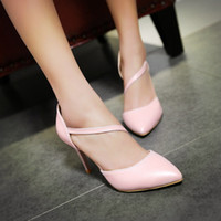 Wholesale New Women s High heeled shoes Rivets Fashion Splice color Pointed Toe Pumps Summer lady s Sandals
