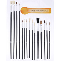 Wholesale 15pcs Different Shape Bristle Hair Paint Brush Paintbrush Set with Palette Gouache Watercolor Oil Painting Acrylics Art Supplies