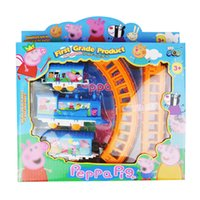electric train toy - Zorn toys Peppa Pink Pig Railcar Pager Pig Train Railway Train Set Electric rail car kids toys