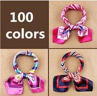 Wholesale New fashion women s Work wear silk scarf print satin square scarf hotel bank work wear scarf cm