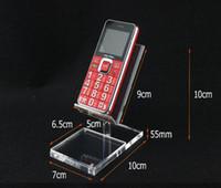 Détenteurs de téléphones mobiles acryliques France-Acrylique forme chaise haute Mobile cell Phone Support Display Rack Étiquette de bureau nom du prix cadre
