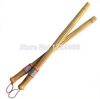 Wholesale 2pcs Bamboo Brush Wood Body Massage Stick Fitness Massage Pat