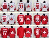 Wholesale Men s Brent Burns Jeff Carter Steven Stamkos John Tavares Blank White Red World Cup of Hockey Jerseys