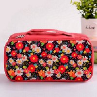 Wholesale Brand New Flower Floral Pencil Pen Case Cosmetic Makeup Bag Portable for Travel FG16453
