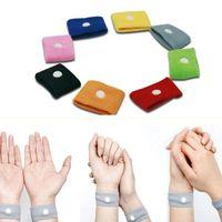 Wholesale Hot Sale Candy Color Anti Nausea Wristbands Car Anti Nausea Sickness Reusable Motion Sea Sick Travel Wrist Bands