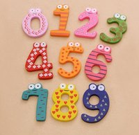 Wholesale Cute Numbers Wooden Fridge Magnetic Sticker Animal Figure Toy For Home Decoration