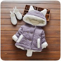Wholesale Children s clothes winter hot style han edition add flocking cotton padded clothes baby boy thickening cotton padded jacket coat