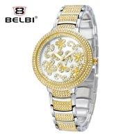 glass jewelry box - New Quality Ladies Belt Watches Vine Brand Famous Belbi automatic Jewelry Buckle Diamond steel boxes