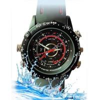 Wholesale 8GB Waterproof Spy Watch Camera hidden pinhole camera sports spy camera watch mini DVR Spycam