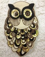 badge embroidery designs - New Designed Owl Clothes Patch Sequined Towel embroidery badge appliques cloth patches Sew on clothing accessories large size