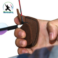 Wholesale New Hunting Shooting Archery Bow String Finger Protector Leather Finger Guard Tab