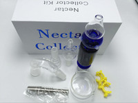 Nectar Collectionneurs 2.0 Kit mini-nectar collecteur Micro Nectar Collect W 8 parties pour le miel de paille fumeurs verre Water Pipe Free Ship