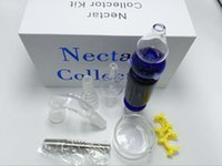 Wholesale Nectar Collectors Kit mini nectar collector Micro Nectar Collect W parts For Honey Straw Smoking Glass Water Pipe Free Ship