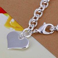 Wholesale sterling silver jewelry bracelet fine fashion arrow heart pendant bracelets top quality SMTH278