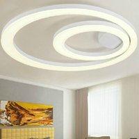 Wholesale New design LED Ceiling Lights Flush mounted white ceiling lighting Modern Acrylic Ring Light Fixture LED Lamp