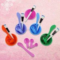 Wholesale soft plastic facial mask mixing bowl applicator spoons EQ0231