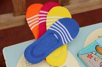 Wholesale 2016 summer new women s striped socks cotton socks socks paragraph stealth silicone anti slip women socks off section