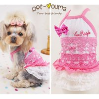 baby chihuahua clothes - 2016 new fashion spring and summer Teddy Chihuahua pink Sweet baby lace Dresses cute pet dog clothes skirts