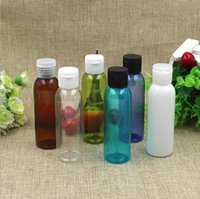 Wholesale 60ml plastic pet cosmetic bottle flipt top cap ml lotion bottle screw cap plastic twist plastic cap wholesales ml