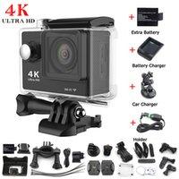 automotive lens - 2016 Action camera K WiFi Eken H9 Ultra HD1080P fps LCD D lens Helmet Cam underwater waterproof Automotive Charger Kit