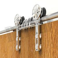 barn decoration - stainless steel sliding barn wood closet door barn glass door sliding hardware with decoration movable core