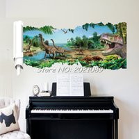 bedroom settings - New Forest Stickers For Wall D Movies Dinosaur World Cartoon Art Vinyl PVC Wall Decal Home Decor For Bedroom Decorations