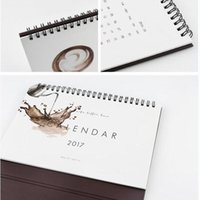 Wholesale quot Coffee Time quot Oct to Dec Desk Calendar Big Size Beautiful Scheduler Agenda Monthly Planner Checklist Memo Notebook Gift