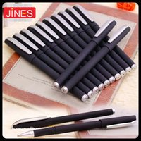 Wholesale 12 pieces mm Writing Pens High Quality Black Ink Scrub Shell Gel Ink Pens School Office Supplies Papelaria