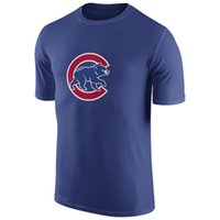 authentic t shirts - 2016 New MLB Men Chicago Cubs Royal Blue Authentic Collection Legend Logo Performance T Shirt MLB Baseball T Shirts