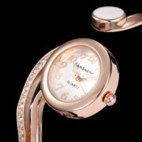 Women's bangel watch - New Fashion Ladies Bangel Wrist Watch K Crystal Top Brand Luxury Design Women Watch Quartz Bracelet Wristwatch Relogio