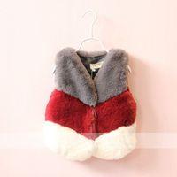 Wholesale 2016 winter fur vest for girls high quality fashion girls fur vest european style baby fur vest y baby outerwear winter