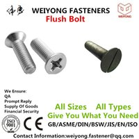 Wholesale Countersunk Square neck bolt Flat countersunk nib bolt Fasteners Alloy carbon steel Mature production line Appropriate logistics