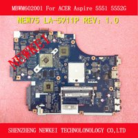 Wholesale NEW75 LA P MBWM602001 For ACER Aspire G motherboard amd pm with216 video card video RAM tested