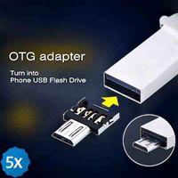 Wholesale Micro USB to USB OTG Adapter for U disk Samsung Galaxy Xiaomi Smartphones