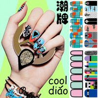 Wholesale Fashion Self Adhesive Polish Foils Nail Art Stickers Manicure Decals Wraps Tips Colorful Nail Stickers Style For Choose