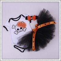 autumn ghost - Pumpkin Ghost body suits and tutu for girls Halloween baby sweetie outfit