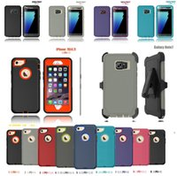 belt boxing - iphone case Original Hybrid defender cases Rugged robot boxes armor Cover with belt clip for Samsung note s6 s7 iphone plus