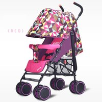Wholesale New Light Weight Baby Stroller Sit And Lie for Newborn Folding Baby Carriage Portable Travel Baby3 Colors Select A