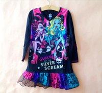 Wholesale MONSTER HIGH Nightgown Nightshirt Sleepwear Y Dress Girls Nightwear Clothing