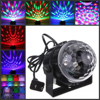 Wholesale Mini RGB LED Crystal Magic Ball Stage Effect Lighting Lamp Party Disco Club DJ Bar Light Show V